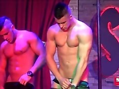 StockBar, Best Male Strippers in North America - 2 Twinks in a Shower