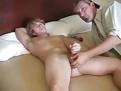 Daddies (Gay);Handjobs (Gay);Masturbation (Gay);Old+Young (Gay);Twinks (Gay) Stepdad helping hand