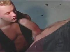 Sucking a monster cock